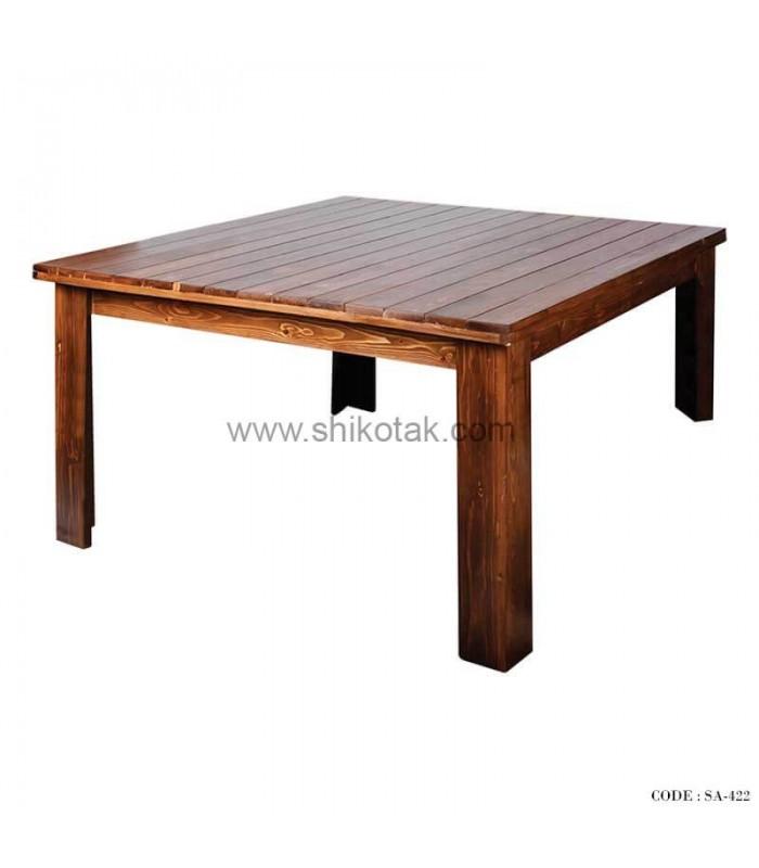 میز ناهار خوری چوبی مربع سری 422