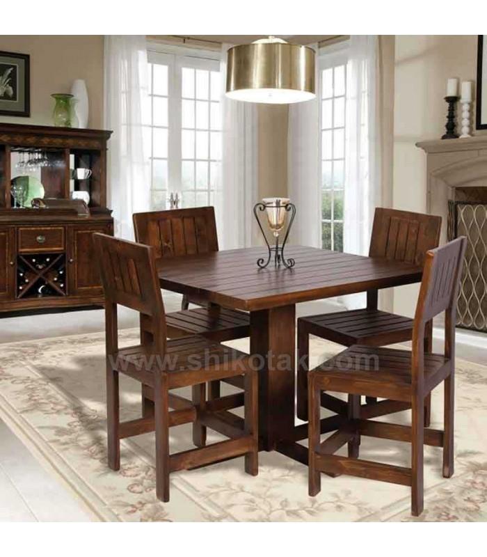 مدل میز ناهار خوری مربع چوبی سری 419