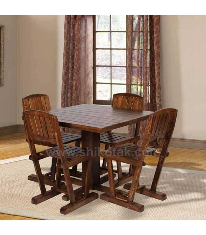 میز ناهار خوری چوبی مربع سری 419