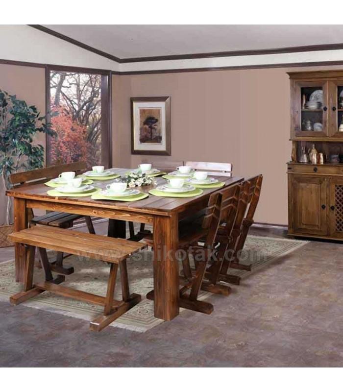 مدل میز ناهار خوری چوبی مربع سری 422