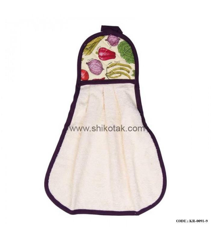 حوله آشپزخانه طرح سبزیجات