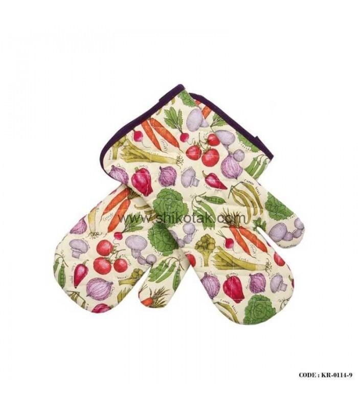 دستکش پارچه ای آشپزخانه طرح سبزیجات