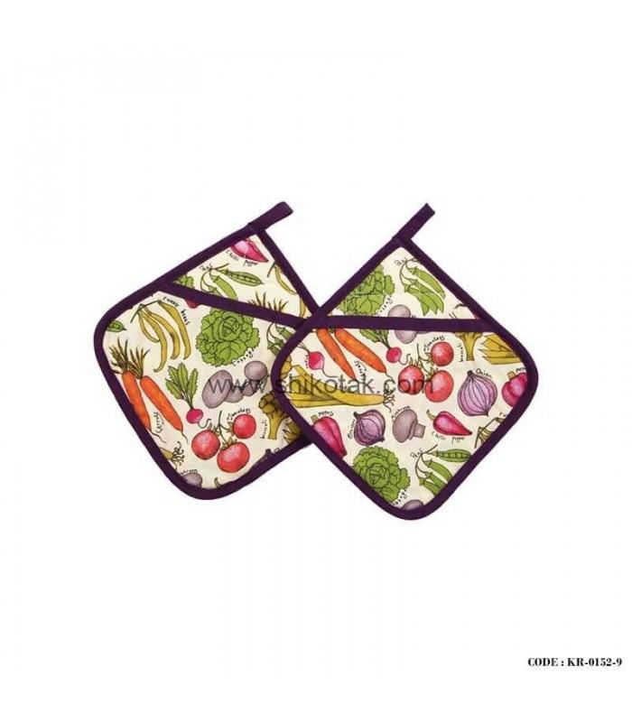 دستگیره پارچه ای آشپزخانه طرح سبزیجات