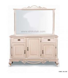 میز کنسول و آینه سفید مدرن سری 350