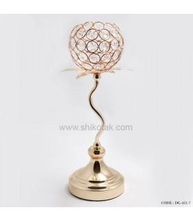 جدیدترین مدل جاشمعی طلایی گلبرگ دار