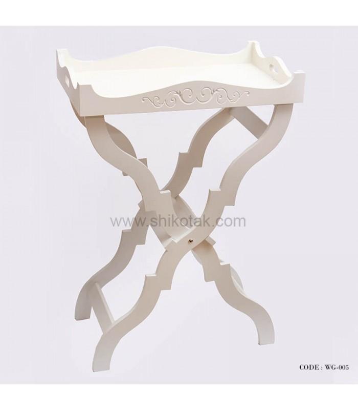 میز پذیرایی تاشو سفید