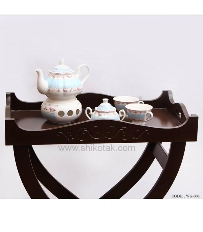 میز پذیرایی قهوه ای