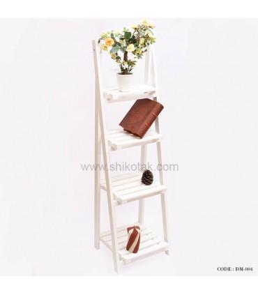 استند گلدان طرح نردبان 4 طبقه PVC