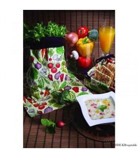 نیم ست پارچه ای آشپزخانه طرح سبزیجات