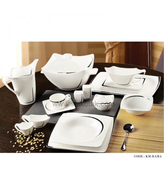 سرویس ظروف غذاخوری 29 پارچه طرح راما