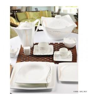 ظروف چینی غذاخوری 28 پارچه طرح اسکای