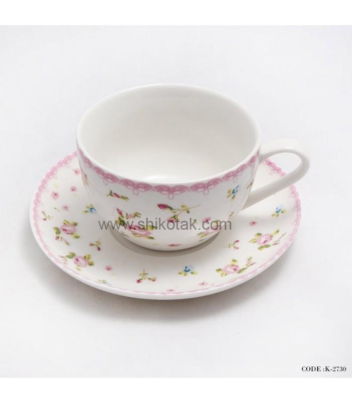 سرویس فنجان و نعلبکی طرح گل گلی
