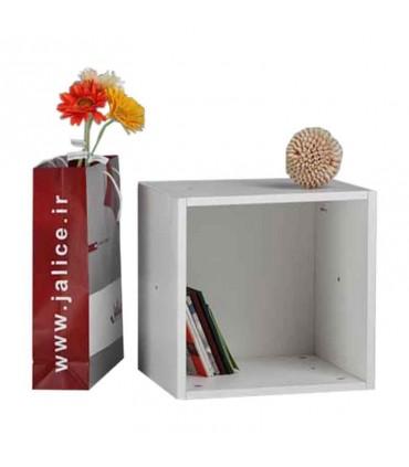 قفسه کتاب دیواری مدل کندوان بدون درب