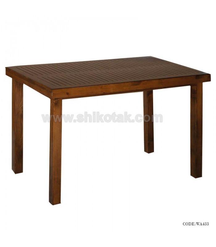 میز ناهارخوری ساده چوبی  سری 433
