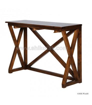 میز ناهارخوری چوبی باریک سری 438