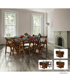 میز و صندلی غذاخوری تاشو سری 074