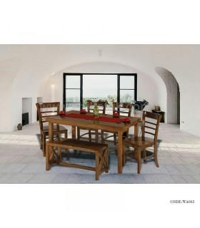 ست میز کرکره ای و صندلی و نیمکت سری 063