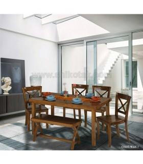 ست میز کرکره ای و صندلی و نیمکت سری 072