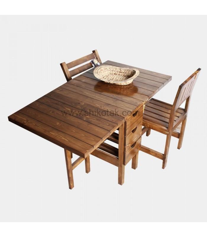 جدیدترین مدل میز ناهار خوری تاشو کشو دار مستطیل