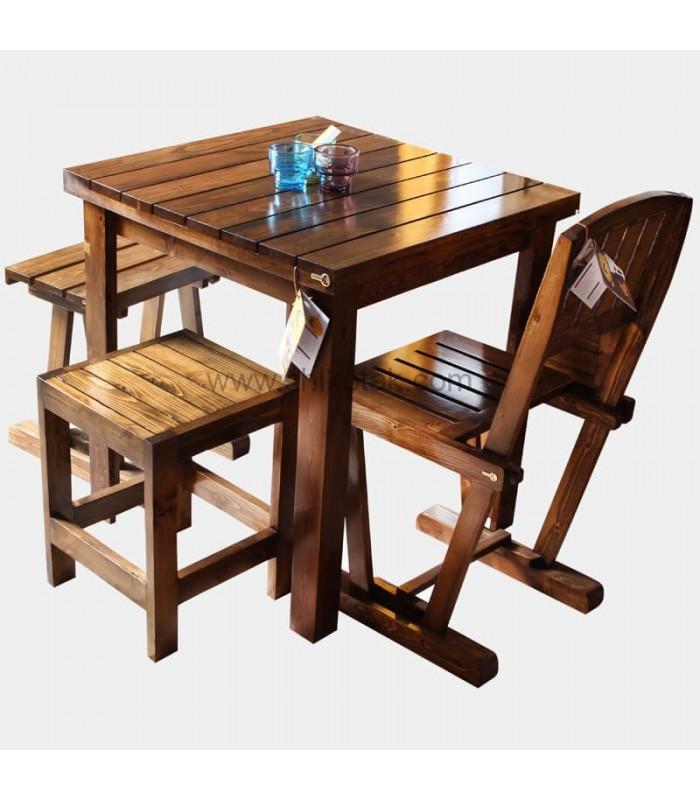 چهار پایه ناهار خوری چوبی مدل ME