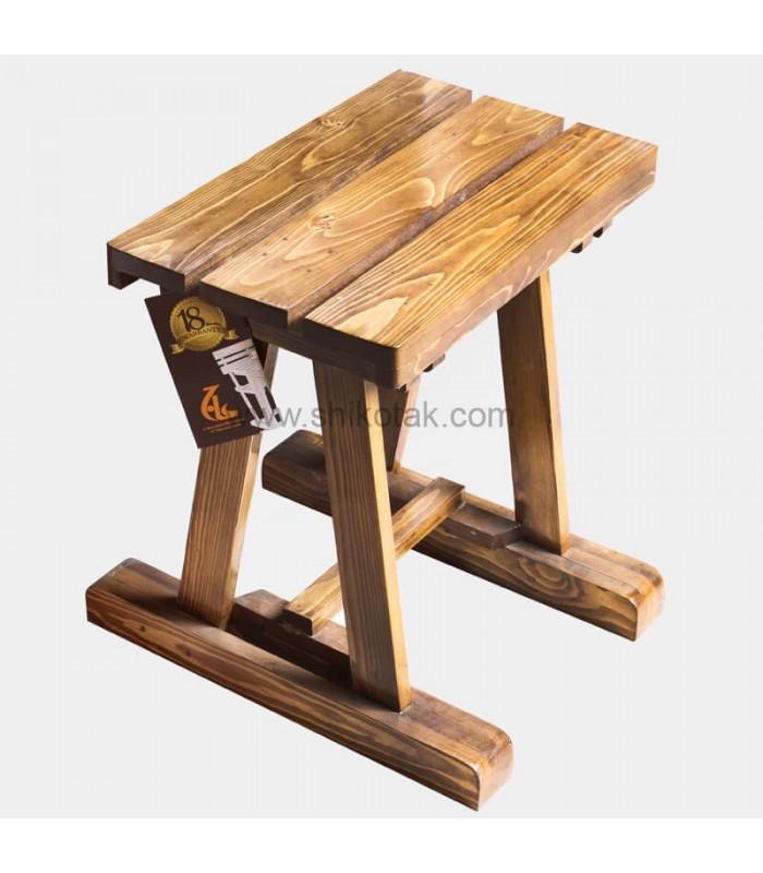 نیمکت ناهار خوری چوبی یک نفره