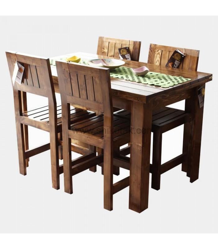 مدل جدید میز ناهار خوری کشو دار چوبی بلند سری 414D