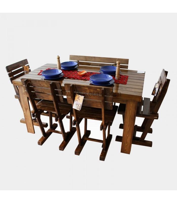 صندلی غذا خوری چوبی مدل سه تیرک