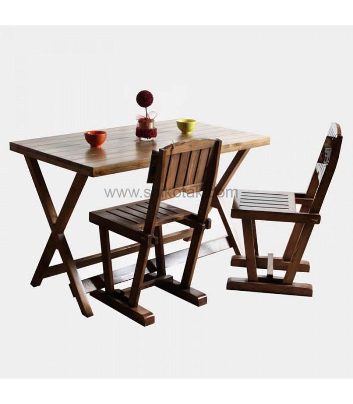 صندلی ناهار خوری چوبی مدل ابرویی