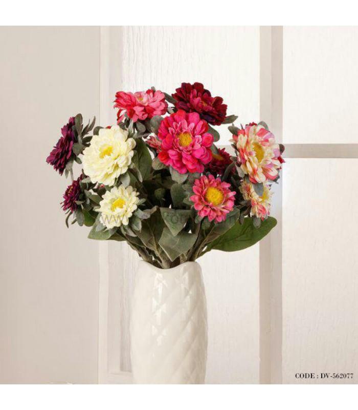 گل مصنوعی شاخه ای ژربرا دو گل