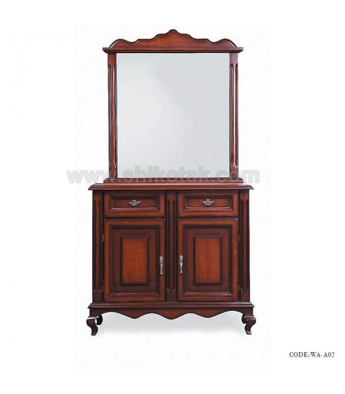 بوفه آینه دار چوبی سری A02