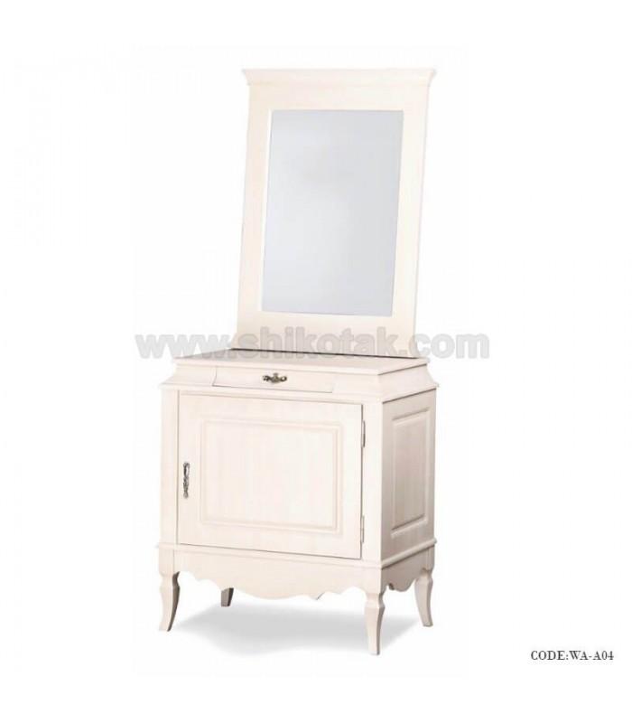 میز کنسول آینه دار سفید سری A04
