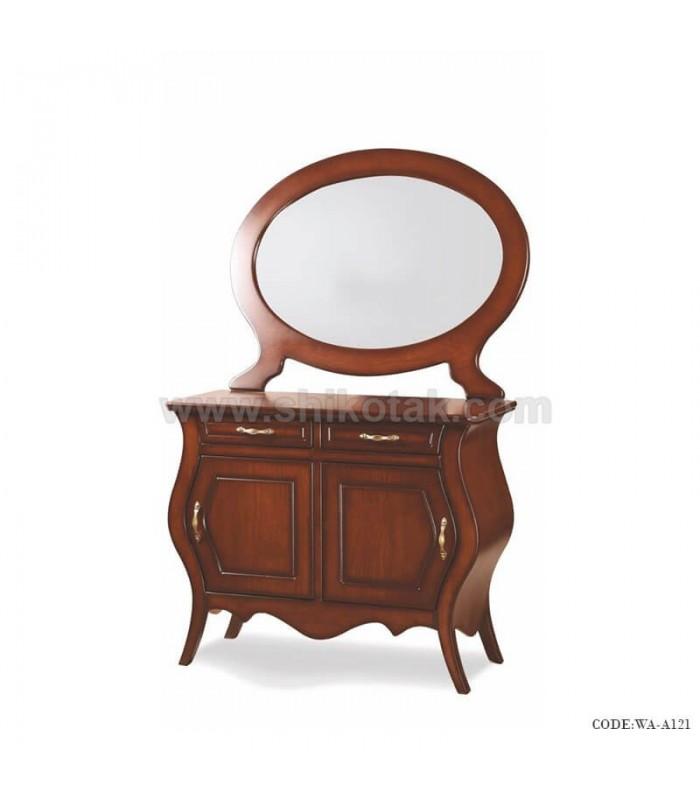 آینه و کنسول چوبی پایه کلاسیک سری A121