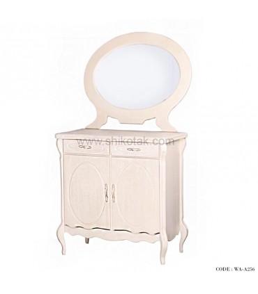 آینه کنسول دو درب دار سفید سری A256