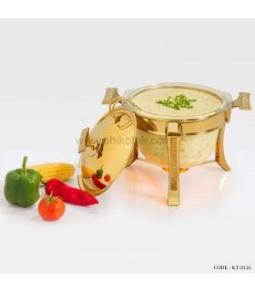 سوپ خوری دایموند طلایی سایز بزرگ