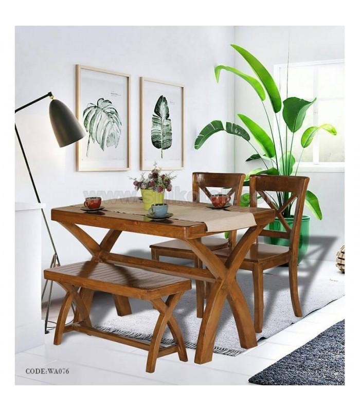 میز چوبی دونفره
