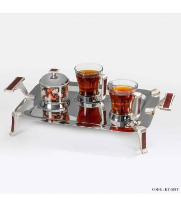 سرویس چایخوری طرح چوب سری 500
