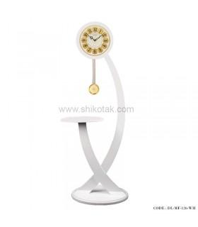 فروش اینترنتی ساعت ایستاده چوبی سری 126 فلورسفید