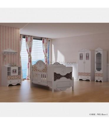 سرویس تخت و کمد نوزاد-نوجوان مدل آنیا