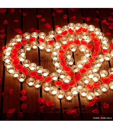 پکیج ویژه ولنتاین شمع و گلبرگ قرمز
