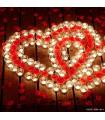 پکیج ویژه ولنتاین شمع و گلبرگ