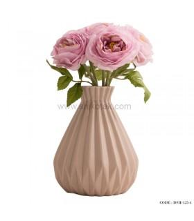 گلدان سرامیکی طوسی