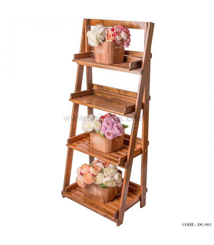 مدل جا گلدانی چوبی تاشو گردوئی