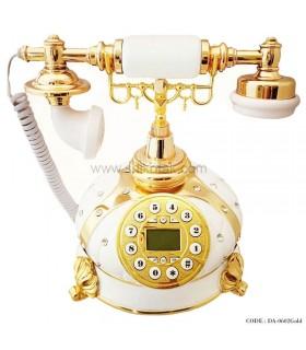 تلفن رومیزی طرح قدیم طلایی سری 0602