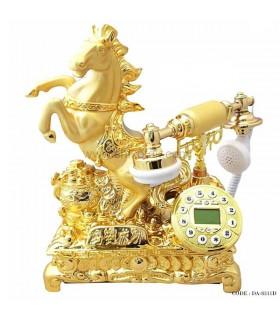 تلفن دکوری رومیزی طرح اسب طلایی سری 8311D