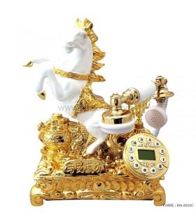 تلفن رومیزی کلاسیک طرح اسب طلایی سری 8311C