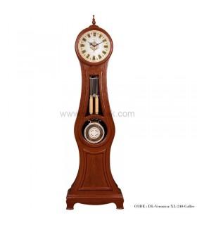 ساعت ایستاده چوبی فندقی طرح ورونیکا