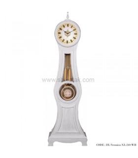 ساعت ایستاده چوبی سفید طرح ورونیکا