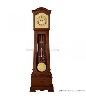 ساعت ایستاده پاندول دار فندقی طرح ویکتوریا