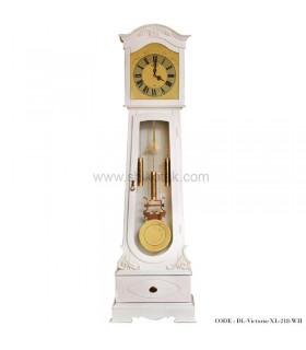 ساعت ایستاده پاندول دار سفید طرح ویکتوریا