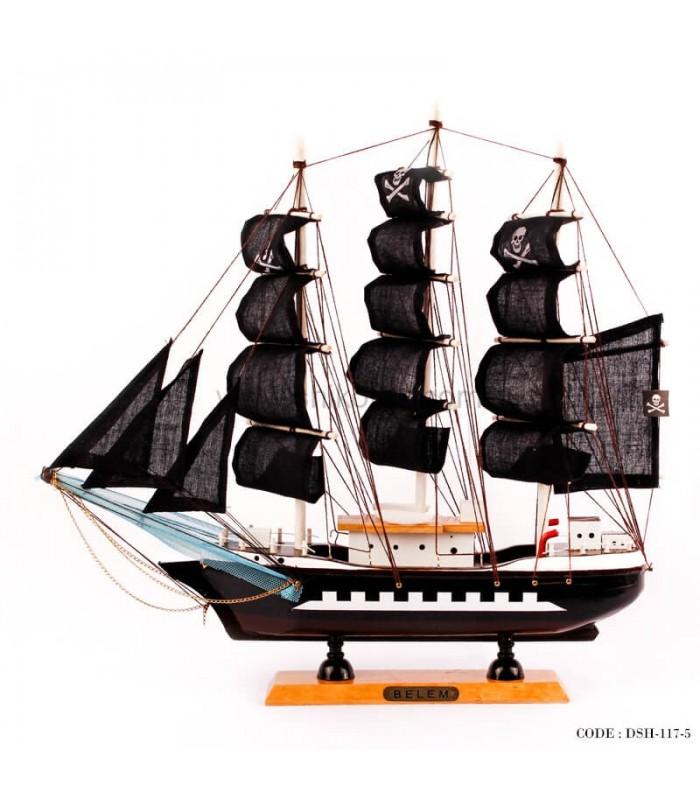 خرید کشتی چوبی دکوری